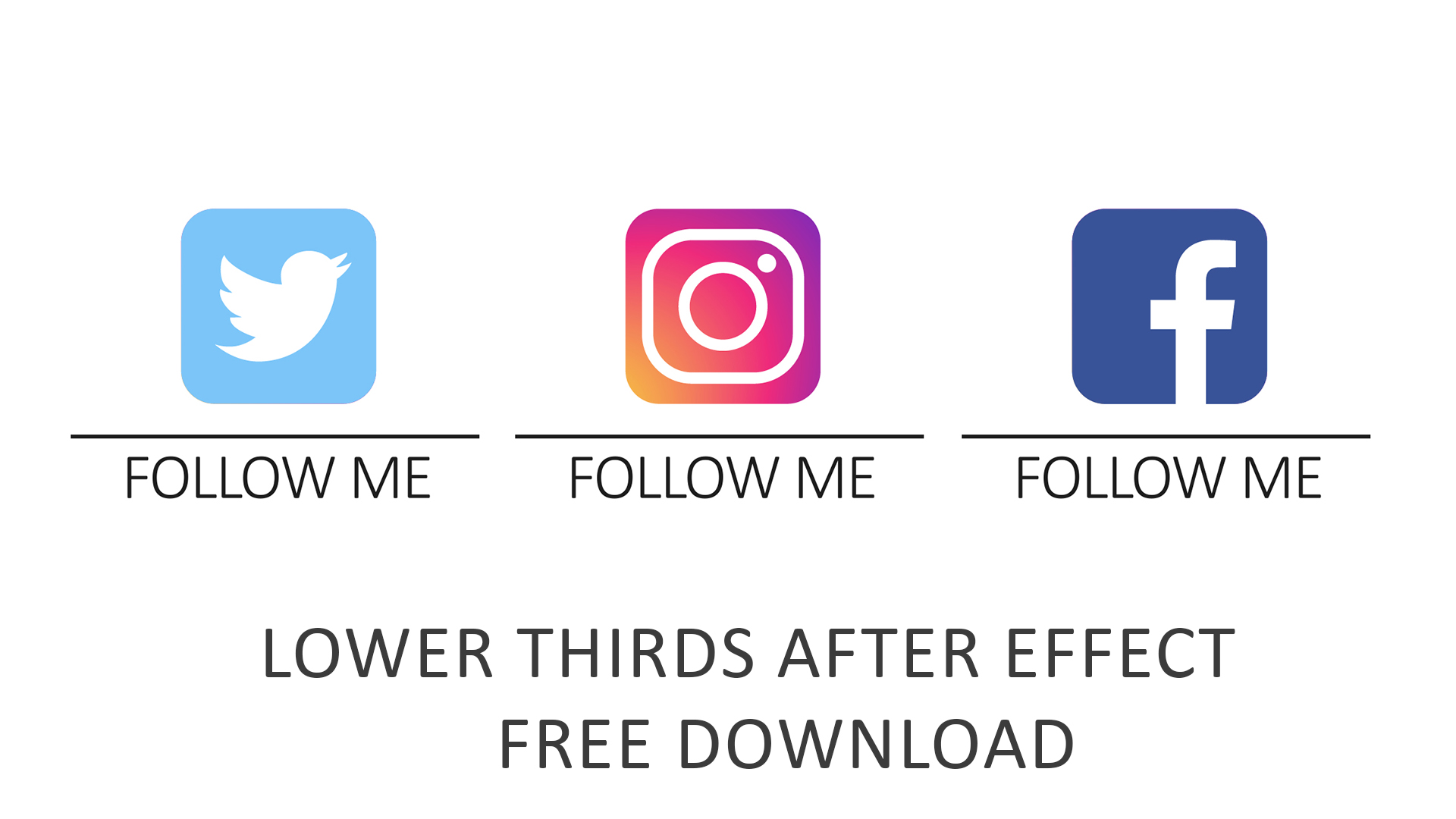 Social Media Logo Lower Thirds After Effects Template Free Fattu
