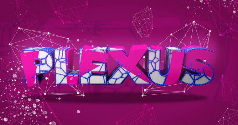 Plexus Text Effect in Photoshop & Cinema 4D