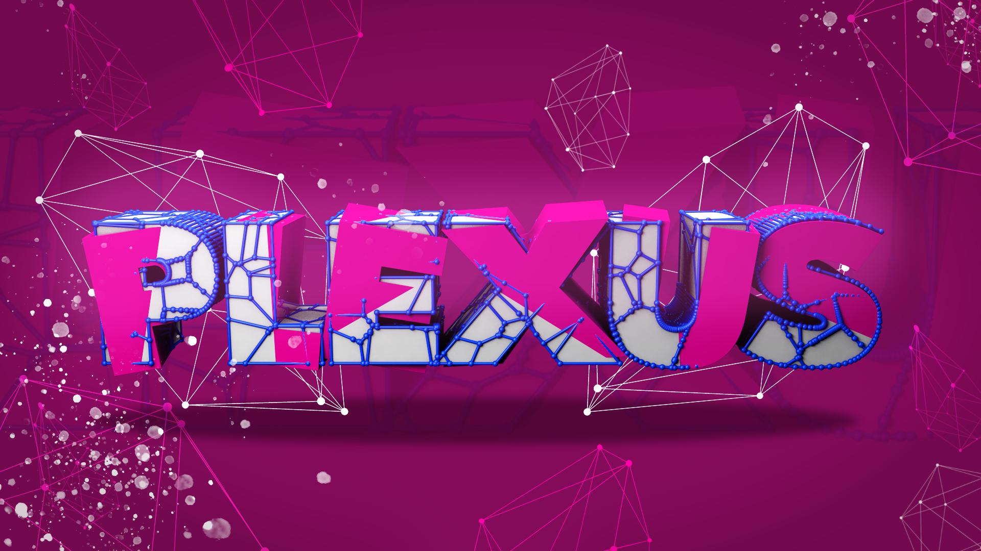 Plexus Text Effect in Photoshop & Cinema 4D