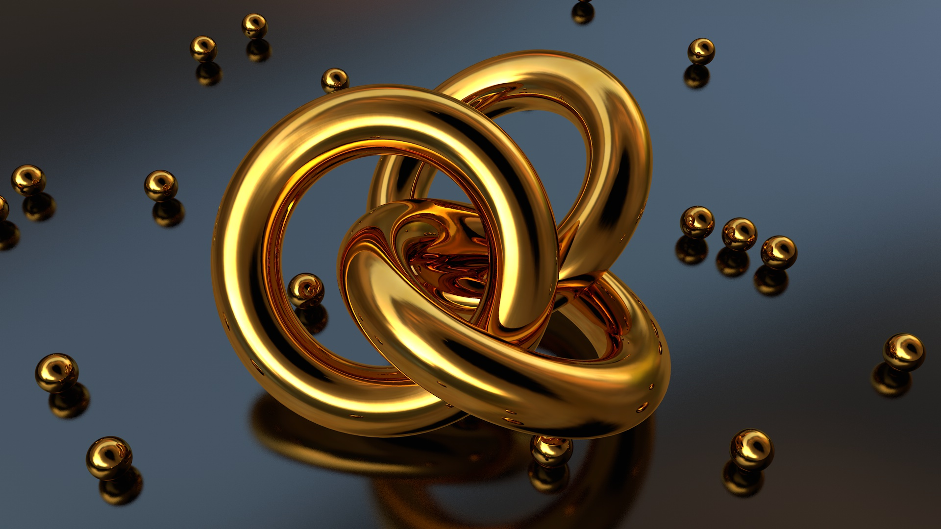 Cinema 4D - Ultra Realistic Gold Material Tutorial - Fattu
