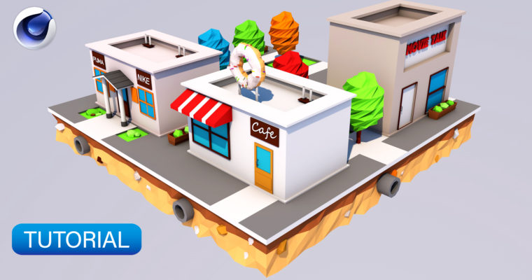 Cinema 4D Tutorial for Beginners – How to Create a Low Poly Shop