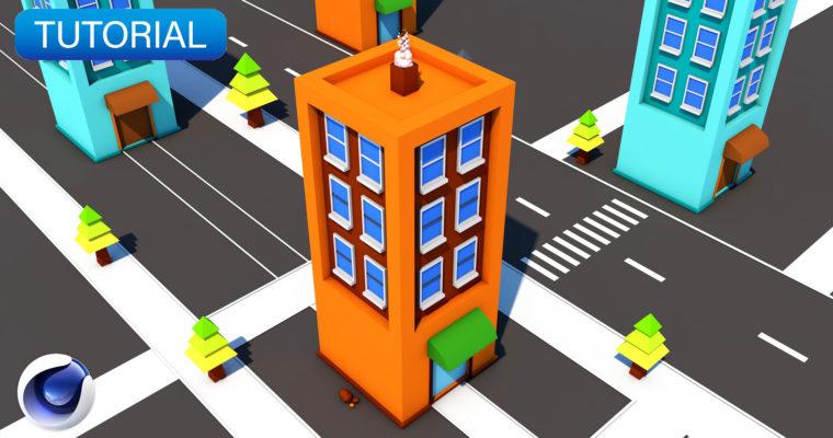 C4D TUTORIAL | Low Poly Apartment (Beginner)