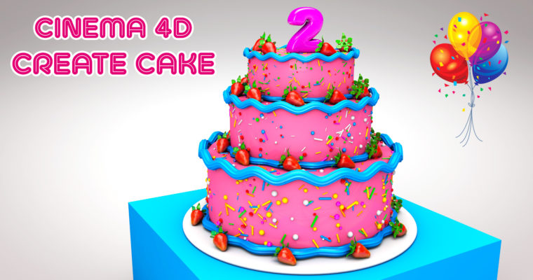 Cinema 4D Modeling Tutorial – Create Cake