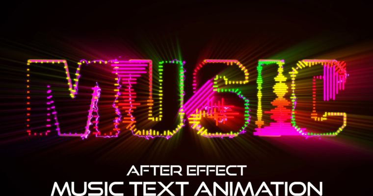 After Effects Text Tutorial – Audio Spectrum Effect in After Effects
