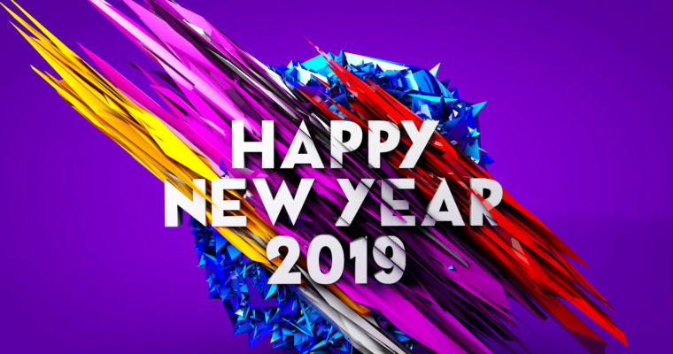 C4D Tutorial – Create New Year 2019 Poster