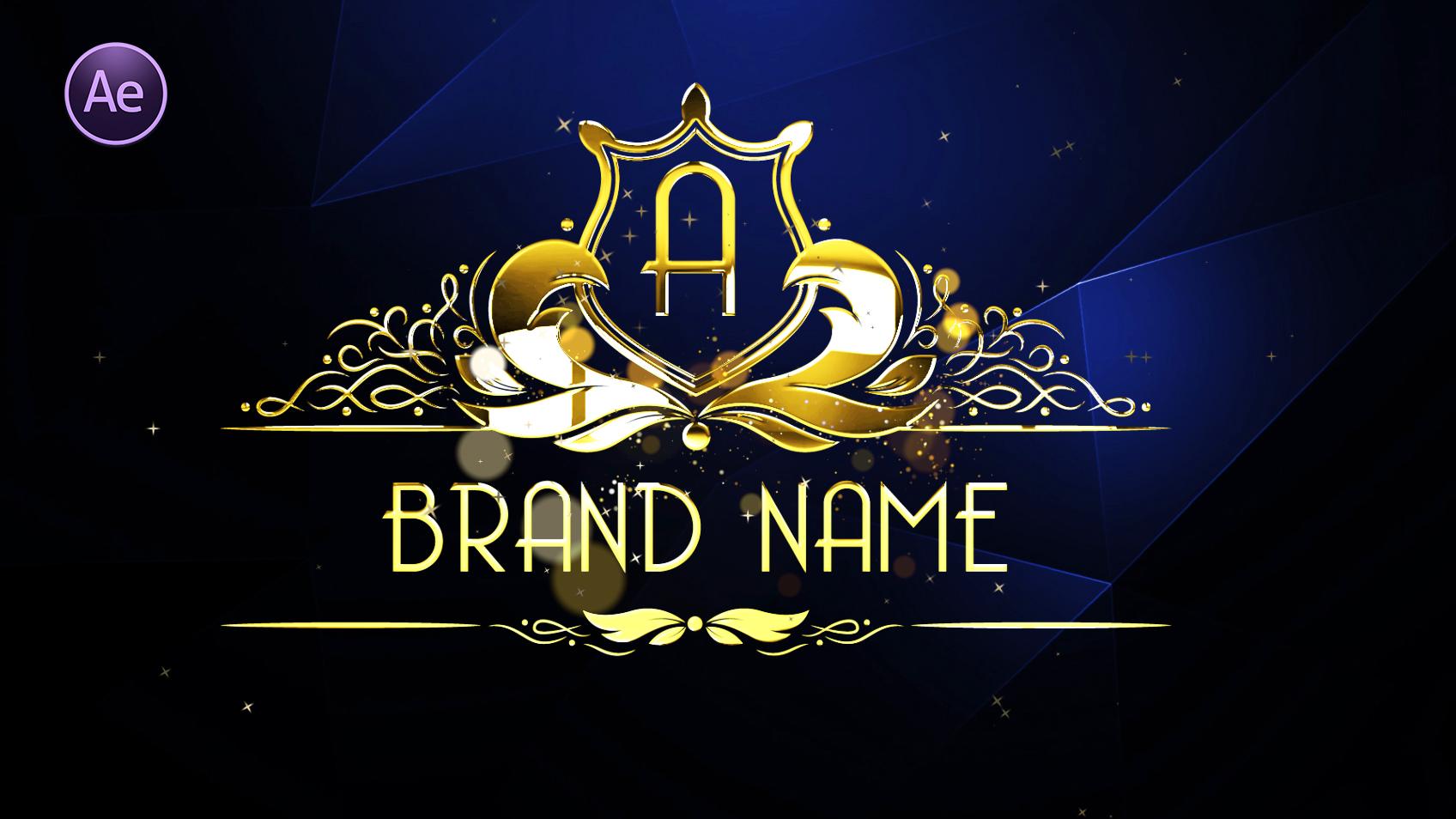 After Effect Logo Animation – Shine & Golden Logo Tutorial
