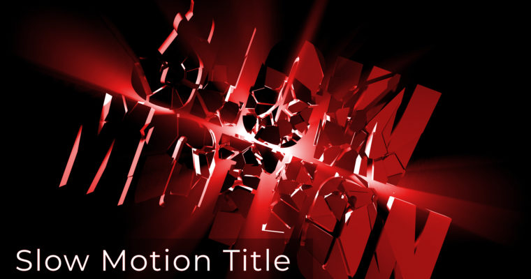 Slow Motion & Motion Graphics Title Animation using Cinema 4D & After Effect