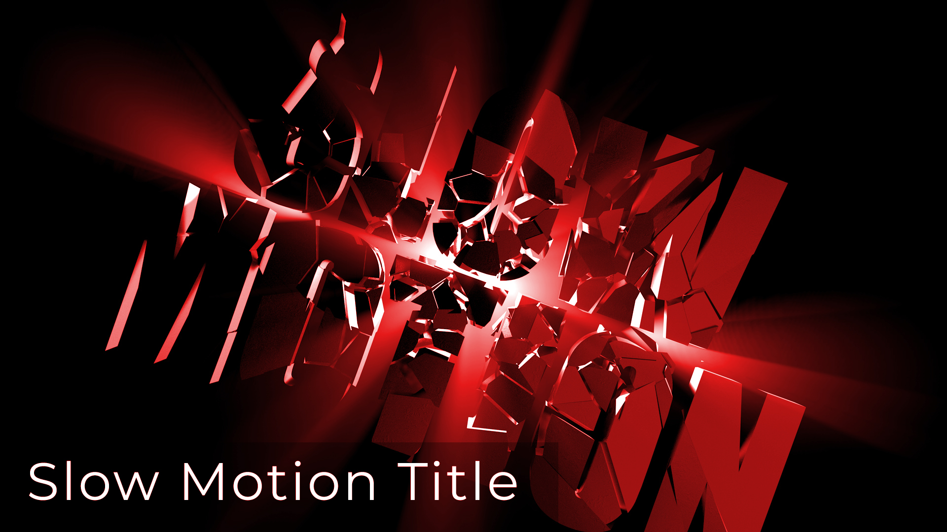 Slow Motion & Motion Graphics Title Animation using Cinema