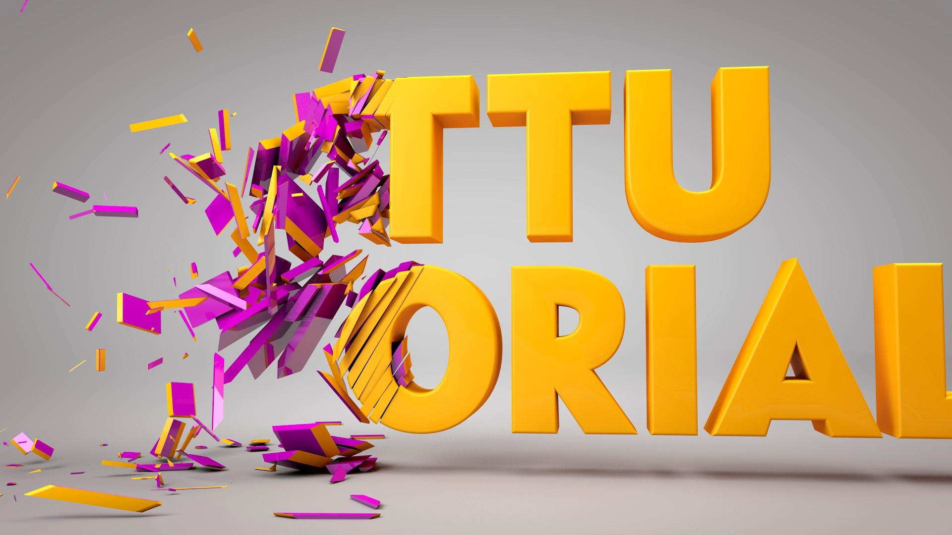 Cinema 4D Motion Graphics | C4D Voronoi Fracture Slices