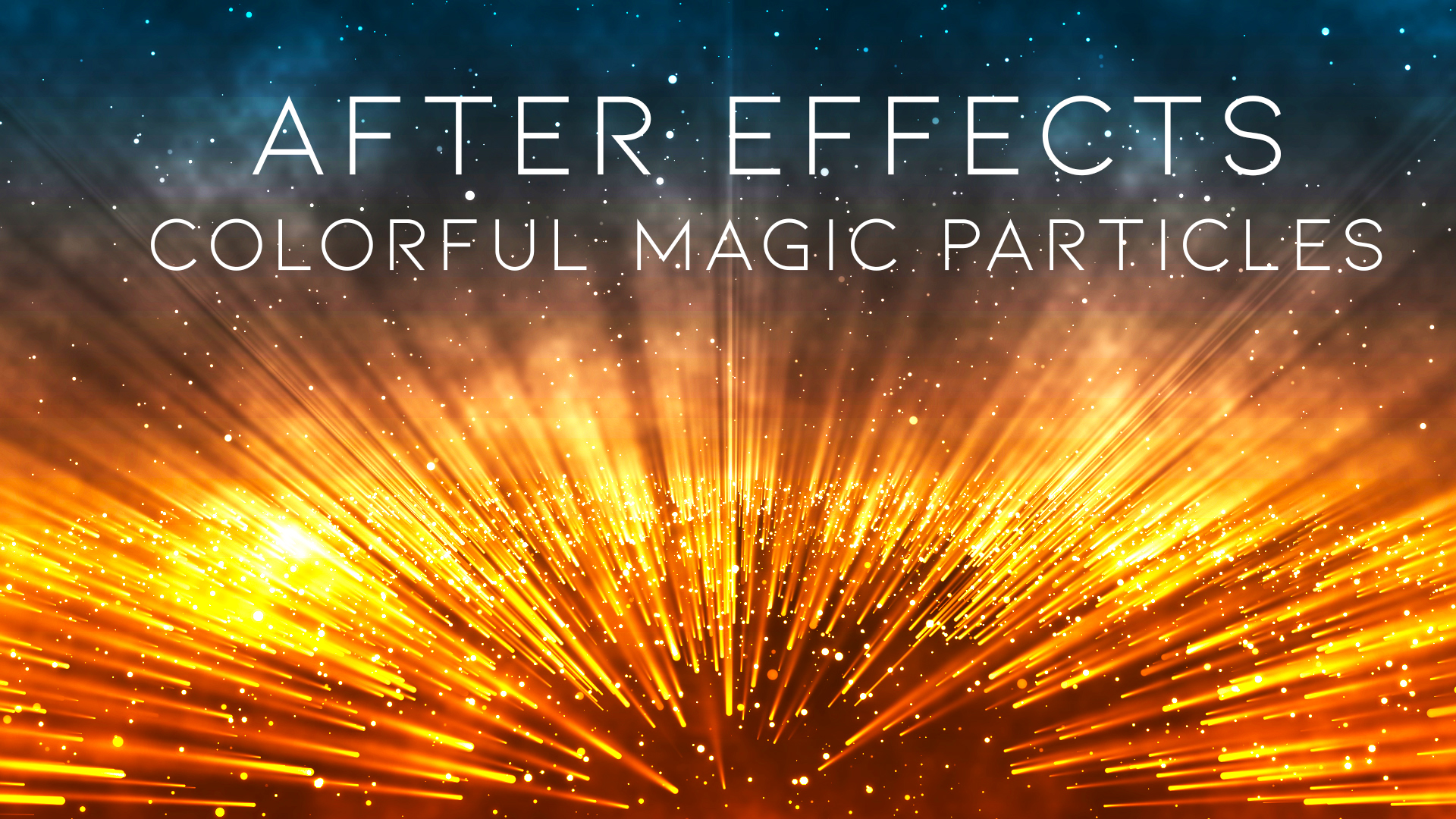 After Effects CC 2019 – Colorful Magic Particles
