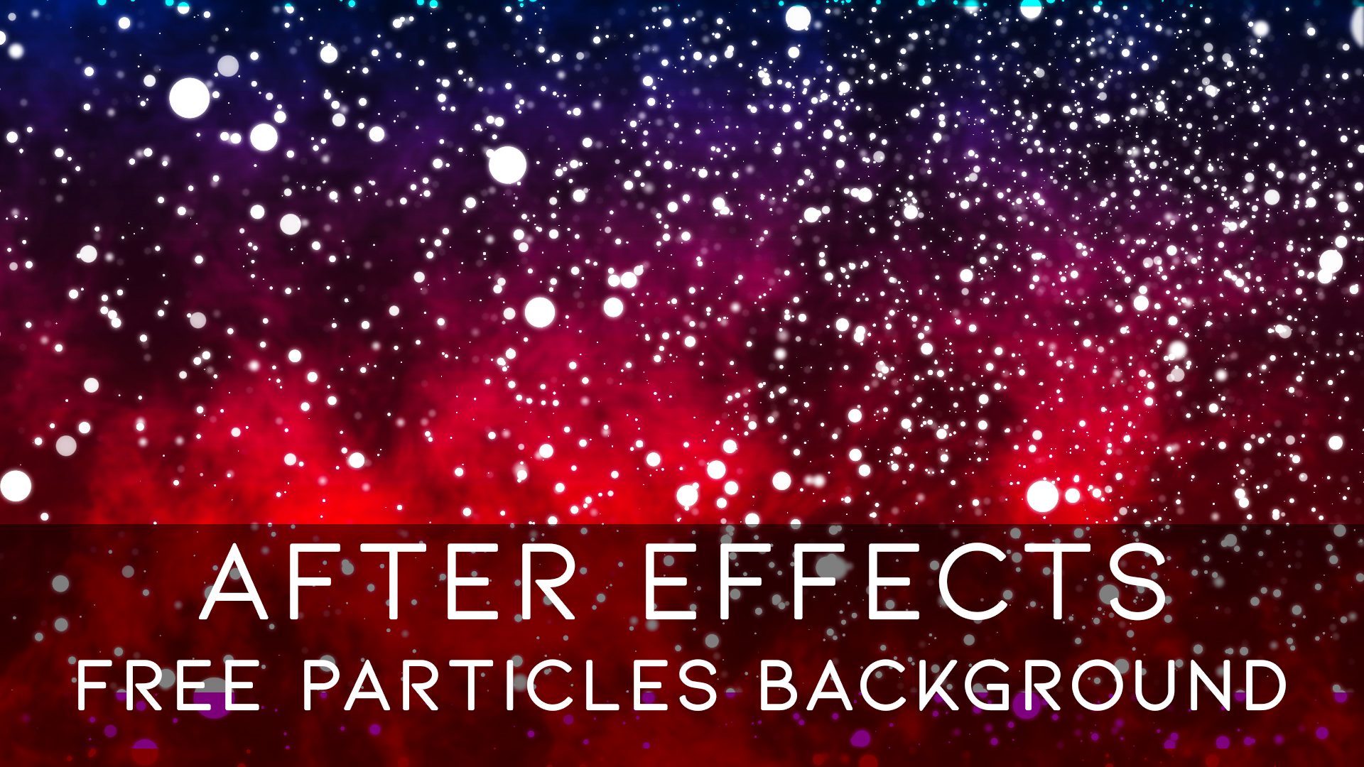 After Effects CC 2019 – Free Particles Backround